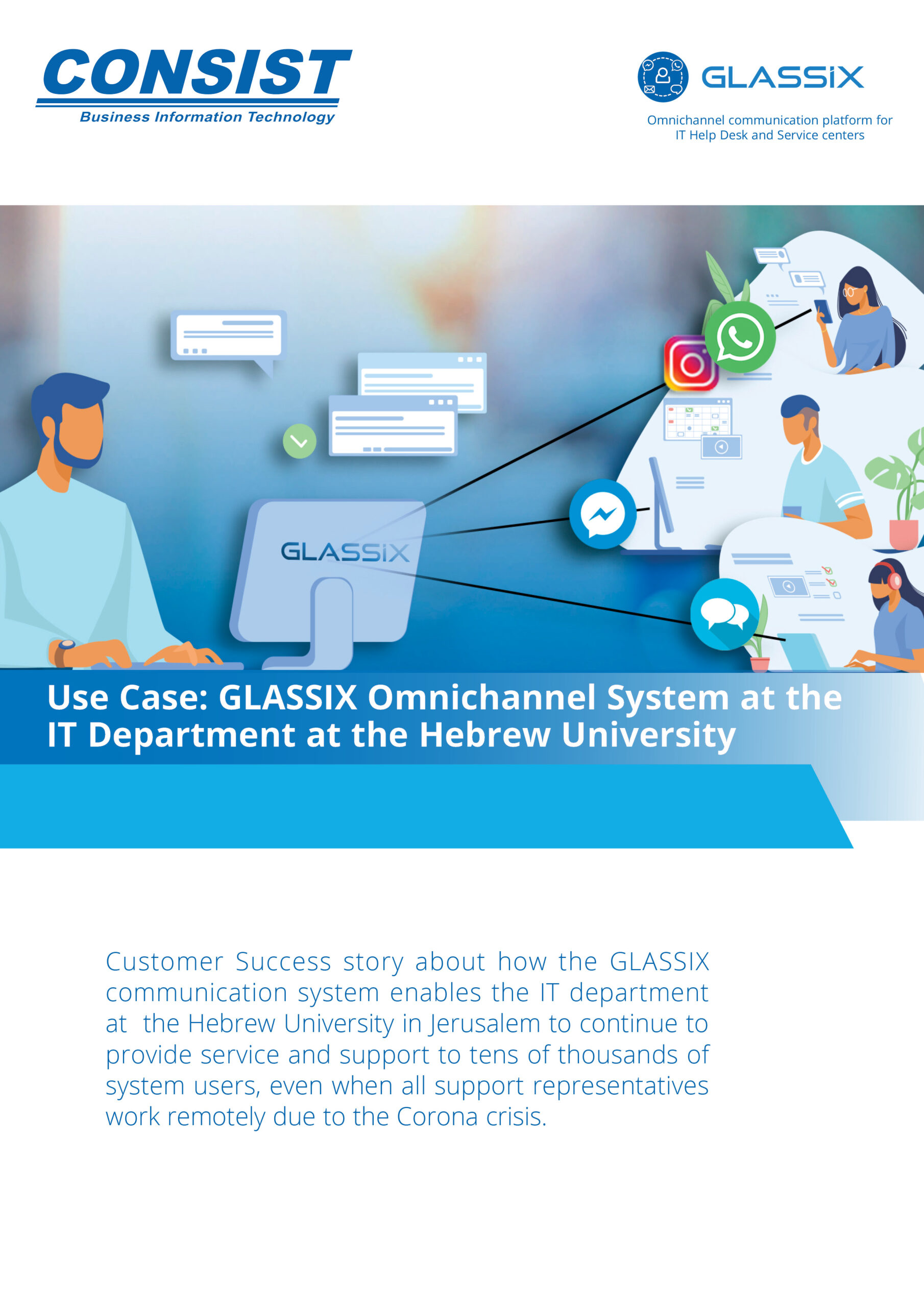 Use Case - Glassix as Omnichannel ITSM system at the Hebrew University